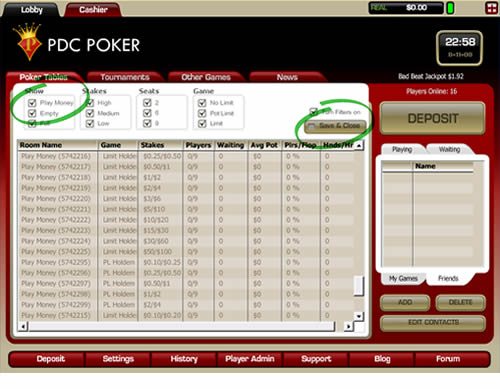 PDC Poker Screen Shot