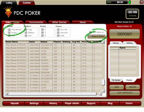 PDC Poker Screen Shot