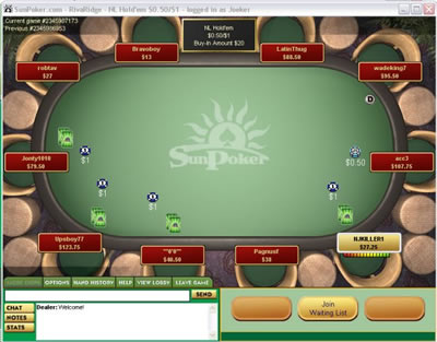 Sun Poker screen shot