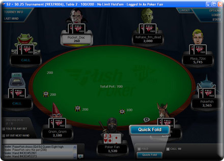 rush poker quick fold